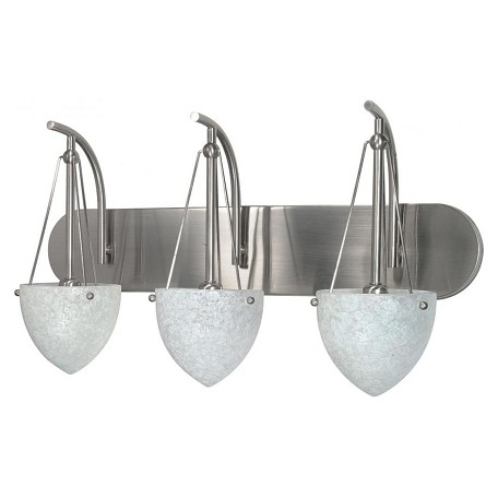 Nuvo South Beach - 3 Light - 24In. - Vanity - W/ Water Spot Glass