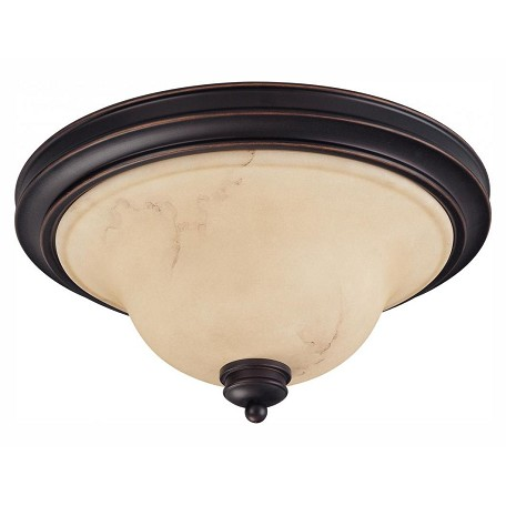 Nuvo Anastasia - 2 Light 15In. Flush Dome W/ Honey Marble Glass