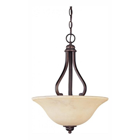 Nuvo Anastasia - 3 Light Pendant W/ Honey Marble Glass
