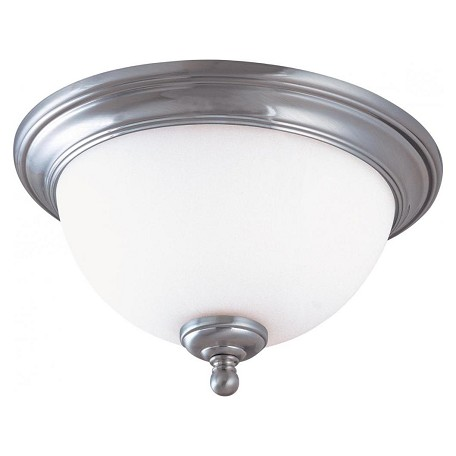 Nuvo Glenwood - 2 Light 15In. Flush Dome W/ Satin White Glass