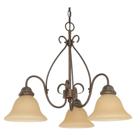 Nuvo Castillo - 3 Light - 26In. - Chandelier - W/ Champagne Linen Washed