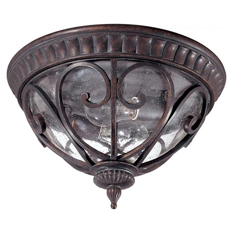 Nuvo Corniche - 2 Light Flush Dome W/ Seeded Glass