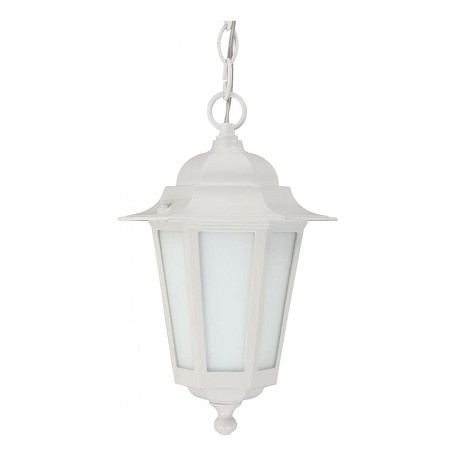 Nuvo Cornerstone Es - 1 Light 13In. - Cfl Hanging Lantern W/ Satin White