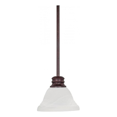 Nuvo Empire - 1 Light - 7In. - Mini Pendant - W/ Hang Straight Canopy