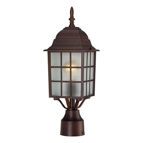 Nuvo Adams - 1 Light - 17In. Outdoor Post W/ Frosted Glass