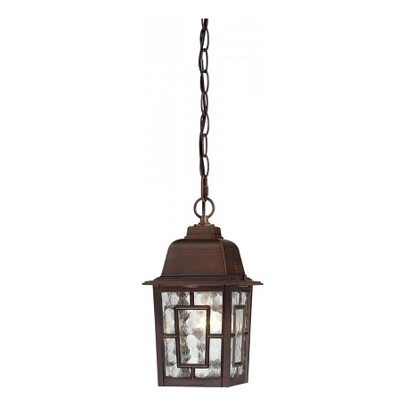 Nuvo Banyan - 1 Light - 11In. Outdoor Hanging W/ Clear Water Glass