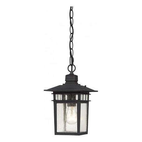 Nuvo Cove Neck - 1 Light - 12In. Outdoor Hang W/ Clear Seed Glass