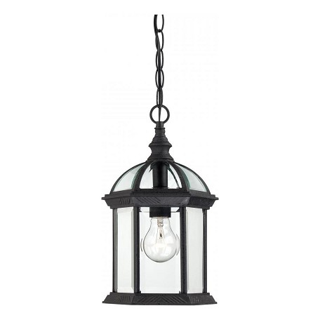 Nuvo Boxwood - 1 Light - 14In. Outdoor Hanging W/ Clear Beveled Glass