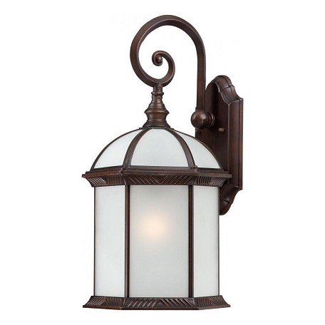 Nuvo Boxwood Es - 1 Light - 19In. Outdoor Wall W/ Frosted Glass - (1) 26W