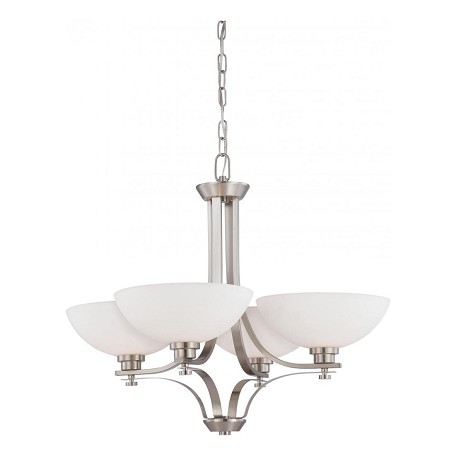 Nuvo Bentley - 4 Light Chandelier W/ Frosted Glass