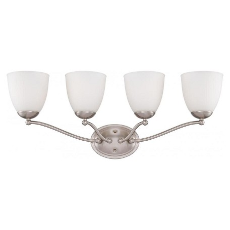 Nuvo Patton - 4 Light Vanity Fixture W/ Frosted Glass