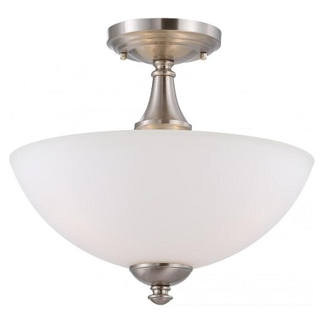 Nuvo Patton - 3 Light Semi Flush W/ Frosted Glass