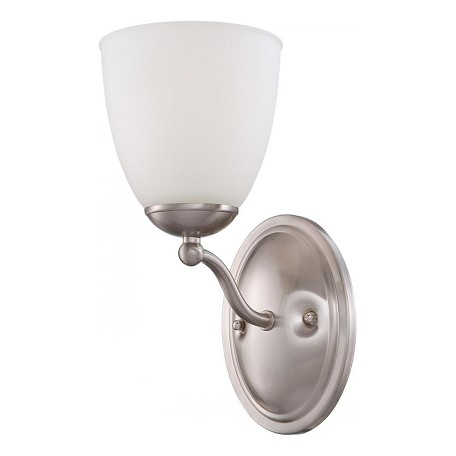 Nuvo Patton Es - 1 Light Vanity Fixture W/ Frosted Glass - (1) 13W Gu24 Lam
