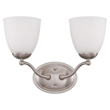Nuvo Patton Es - 2 Light Vanity Fixture W/ Frosted Glass - (2) 13W Gu24 Lam