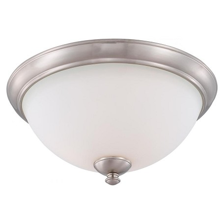 Nuvo Patton Es - 3 Light Flush Fixture W/ Frosted Glass - (3) 13W Gu24 Lamp