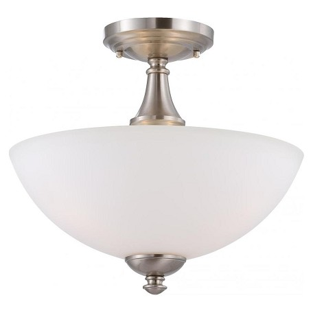 Nuvo Patton Es - 3 Light Semi Flush W/ Frosted Glass - (3) 13W Gu24 Lamps I