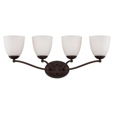Nuvo Patton Es - 4 Light Vanity Fixture W/ Frosted Glass - (4) 13W Gu24 Lam