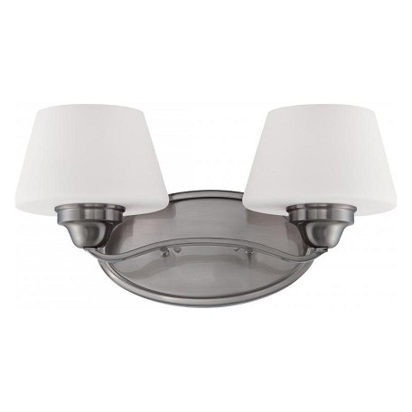 Nuvo Ludlow - 2 Light Vanity Fixture W/ Satin White Glass