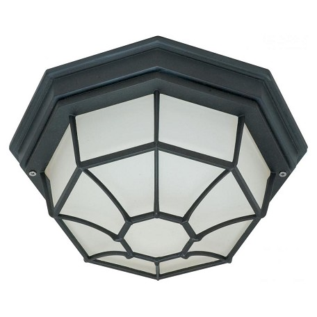 Nuvo 1 Light - 12In. - Ceiling Spider Cage Fixture - Die Cast, Glass Lens