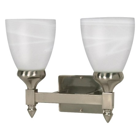 Nuvo Triumph - 2 Light - 13In. - Vanity - W/ Sculptured Glass Shades