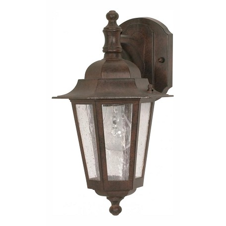 Nuvo Cornerstone - 1 Light - 13In. - Wall Lantern - Arm Downw/ Clear Seed