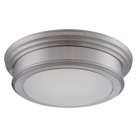 Nuvo Chance - Led Flush Fixture W/ Frosted Glass