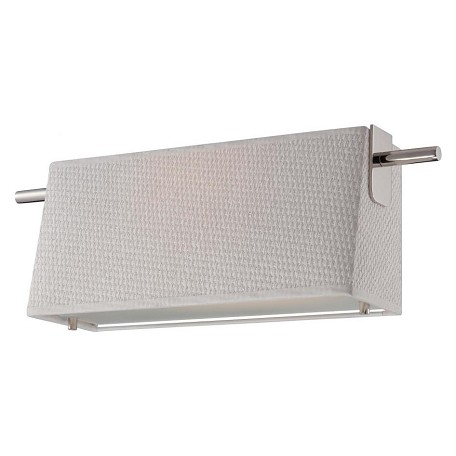 Nuvo Claire - Led Wall Sconce W/ White Fabric Shade