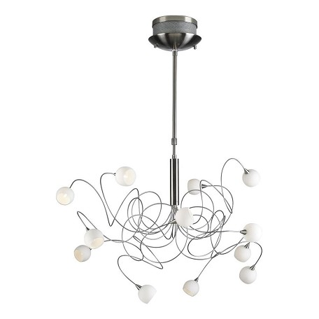 PLC Lighting 12 Light Chandelier Fusion Collection