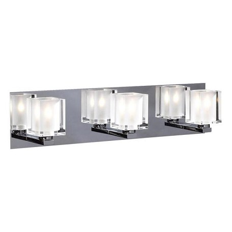 PLC Lighting 3 Light Vanity Glacier Collection