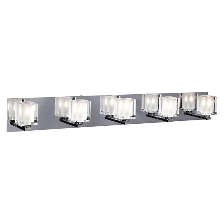 PLC Lighting 5 Light Vanity Glacier Collection