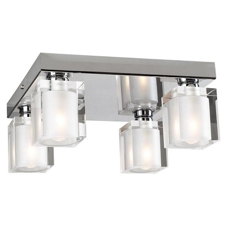 PLC Lighting 4 Light Ceiling Light Glacier Collection