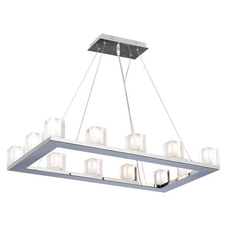 PLC Lighting 12 Light Pendant Glacier Collection