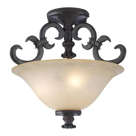 PLC Lighting 3 Light Ceiling Light Lexington Collection