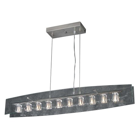PLC Lighting 10 Light Pendant Ice Cube Collection
