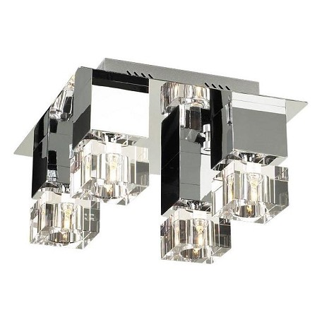 PLC Lighting 4 Light Ceiling Light Charme Collection