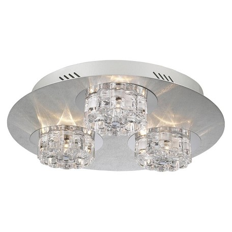 PLC Lighting 9 Light Ceiling Light Ice Age Collection