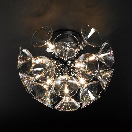 PLC Lighting 13 Light Ceiling Light Martini Collection