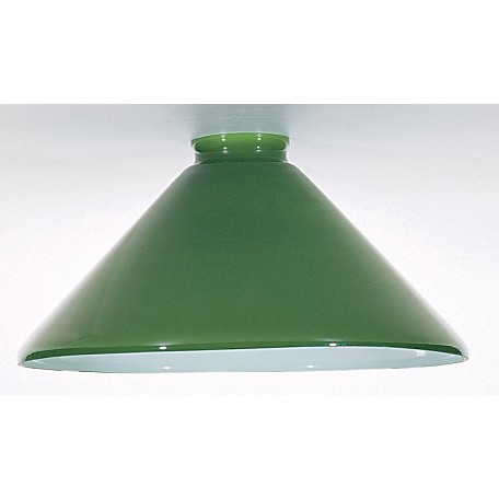 Satco Products Inc. Green Cased Shade 10In.D X 2¼In.F