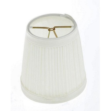 Satco Products Inc. Bone Pleated Round Fixture Shade 3 X 4 X 4&#3
