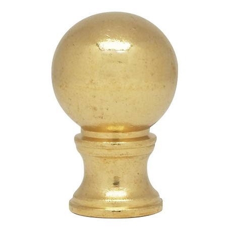 Satco Products Inc. Ball Finial 1/8Ip 7/8In. Dia Solid Brass