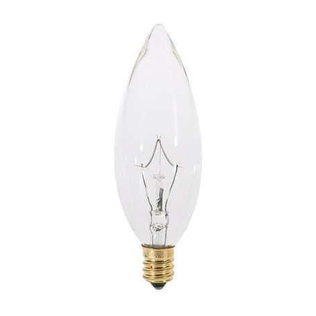 Satco Products Inc. 40 Watt; Ba9 1/2; Clear; 1500 Average Rated Hours; 384 Lumens; Candela