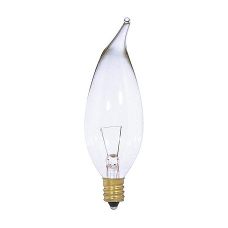 Satco Products Inc. 15 Watt; Ca10; Clear; 1500 Average Rated Hours; 150 Lumens; Candelabra
