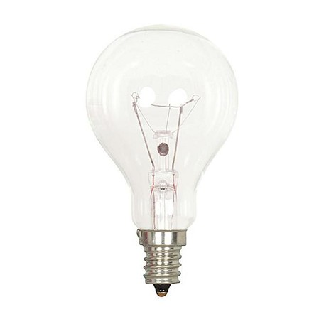 Satco Products Inc. 40 Watt; A15; Clear; 1000 Average Rated Hours; 420 Lumens; Candelabra