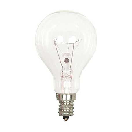 Satco Products Inc. 60 Watt; A15; Clear; 1000 Average Rated Hours; 700 Lumens; Candelabra