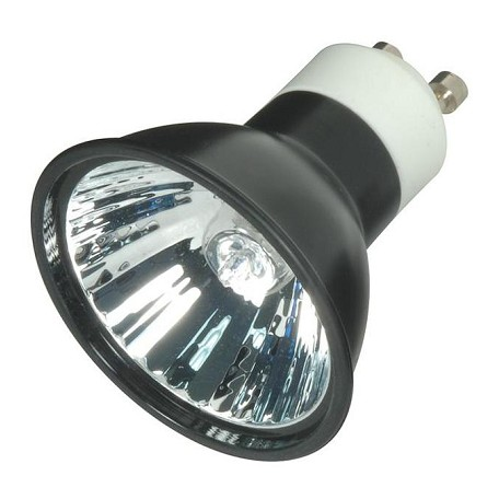 Satco Products Inc. 50 Watt Halogen; Mr16; Fmw; Black; 3000 Average Rated Hours; Gu10 Base