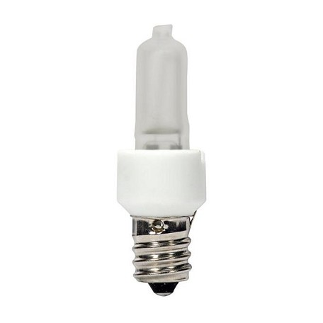 Satco Products Inc. 20 Watt Halogen; T3; Frost; 3000 Average Rated Hours; 200 Lumens; Cand