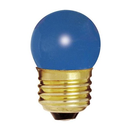 Satco Products Inc. 7.5 Watt; S11; Ceramic Blue; 2500 Average Rated Hours; Medium Base; 12