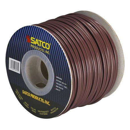 Satco Products Inc. Spool Wire 18/2 Spt1 105° Brown 250In.