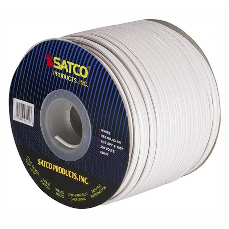 Satco Products Inc. Spool Wire 16/2 Spt1 105° White 250In.