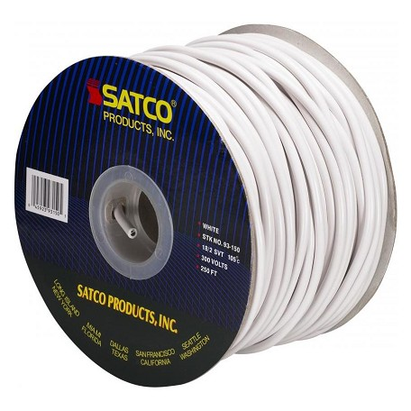 Satco Products Inc. Spool Wire 18/2 Svt Pulley Cord White 250&#39